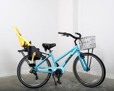 Ladies' multi-speed bike w/ baby seat